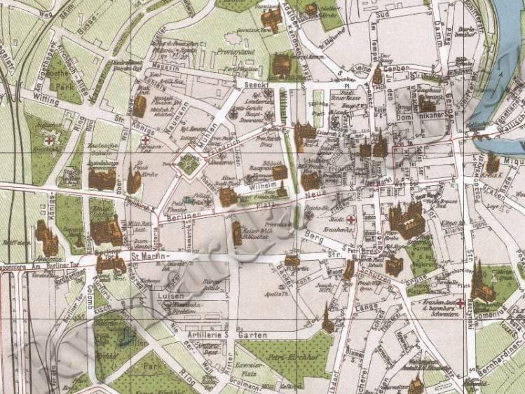 Plan Miasta Poznania z 1911r.