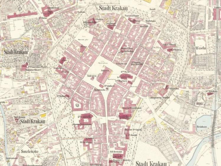 Plan Miasta Krakowa z 1848r.