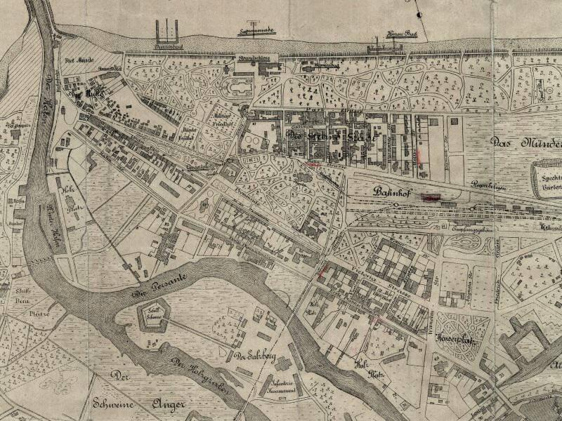 Plan Miasta Kołobrzegu z 1892r.