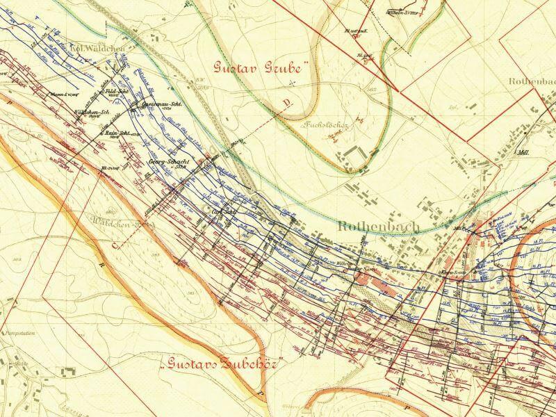 Mapa Górnicza Wałbrzycha z 1905r. (3)