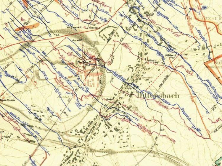 Mapa Górnicza Wałbrzycha z 1905r. (4)