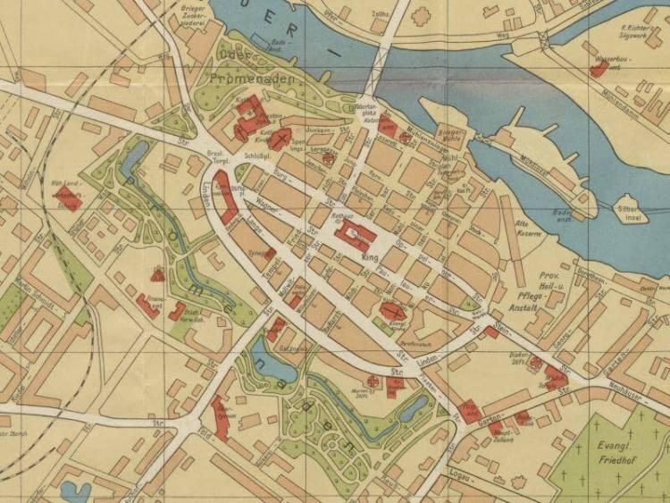 Plan Miasta Brzegu z 1933r.
