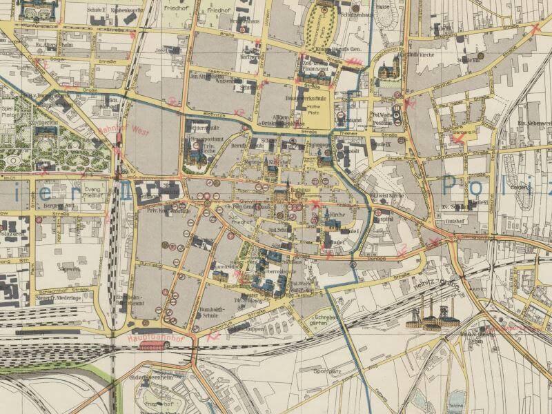 Plan Miasta Bytomia z 1927r.
