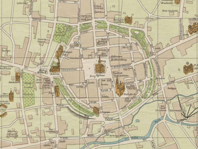 Plan Miasta Dzierżoniowa z 1922r.