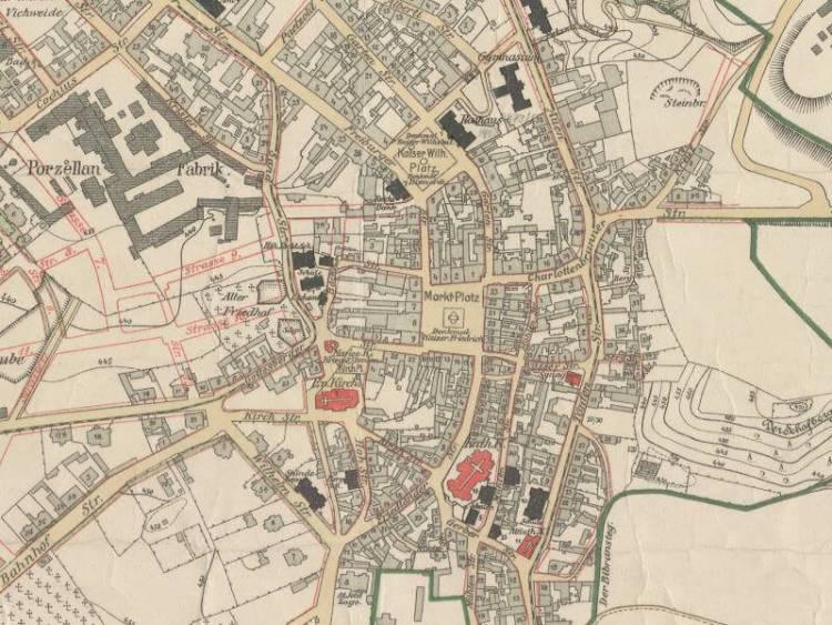 Plan Miasta Wałbrzycha z 1906r.