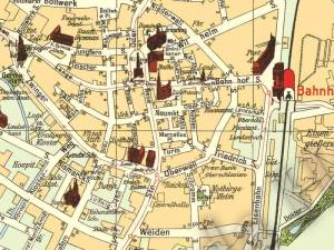Plan Miasta Raciborza z 1933r.
