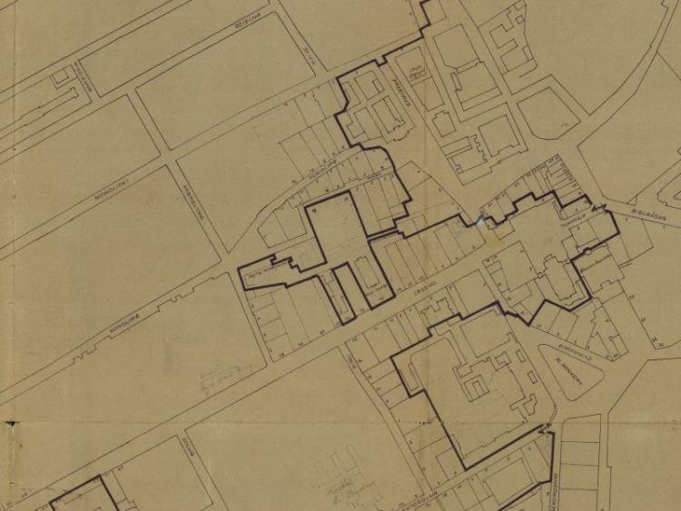 Plan Getta warszawskiego z 1940r.