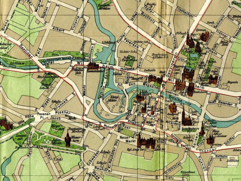 Plan Miasta Bydgoszczy z 1910r.