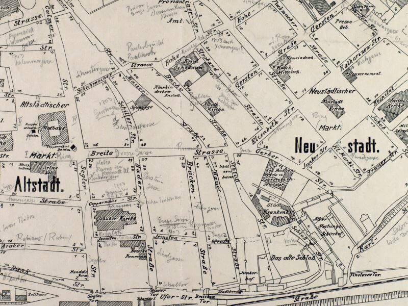 Plan Miasta Torunia z 1914r.