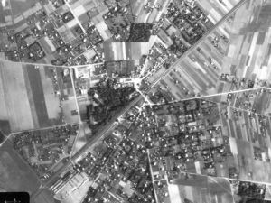 Zdjęcie lotnicze Brwinowa z 1944r.