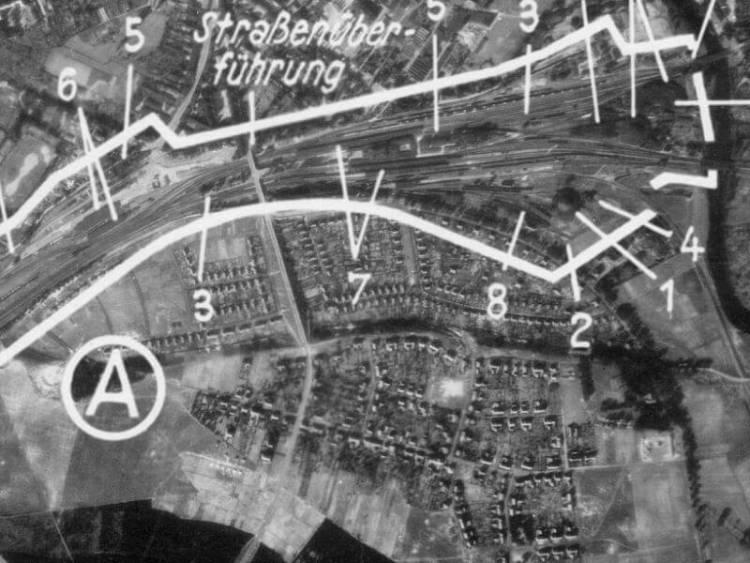 Zdjęcie lotnicze Piły z 1944r.