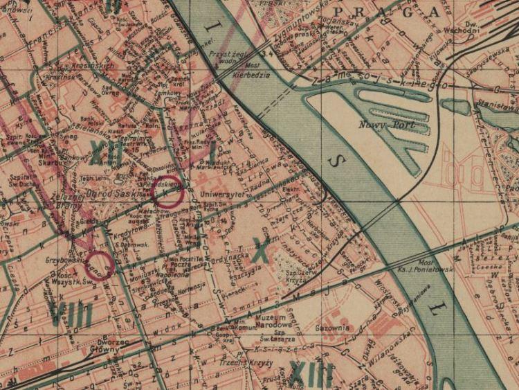 Plan Miasta Warszawy z 1934r.