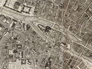 Plan Miasta Paryża z 1856r.
