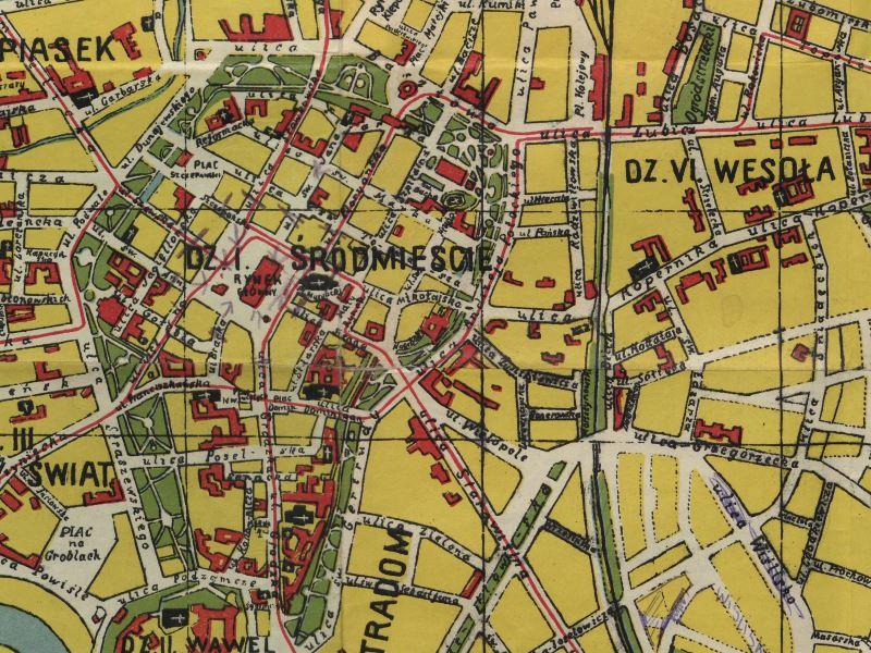 Plan Miasta Krakowa z 1934r.