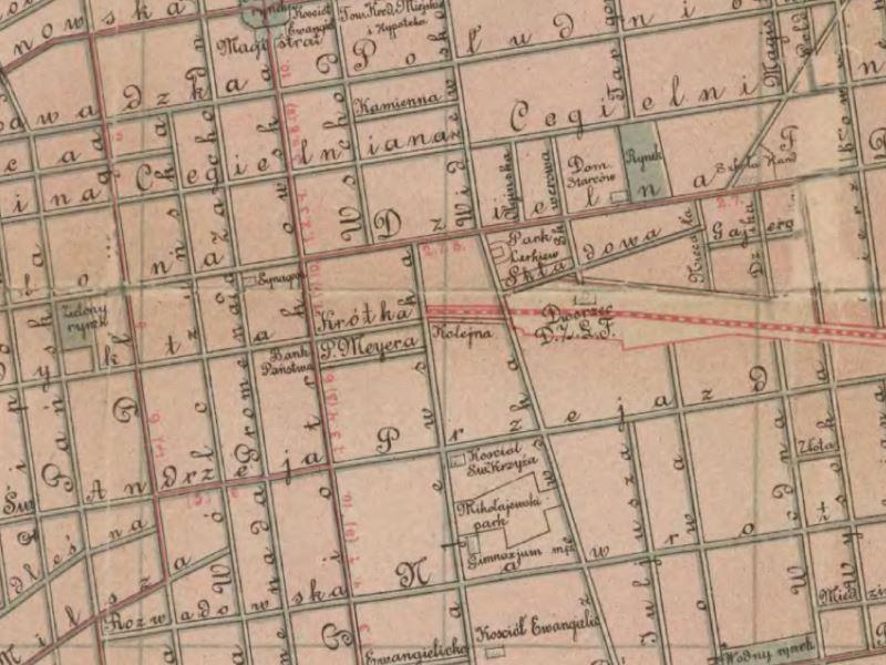 Plan Miasta Łodzi z 1911r.