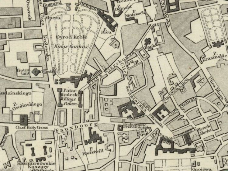 Plan Miasta Warszawy z 1840r.