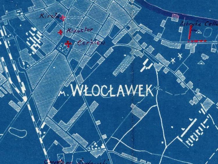 Plan Sztabowy Włocławka z 1919r.