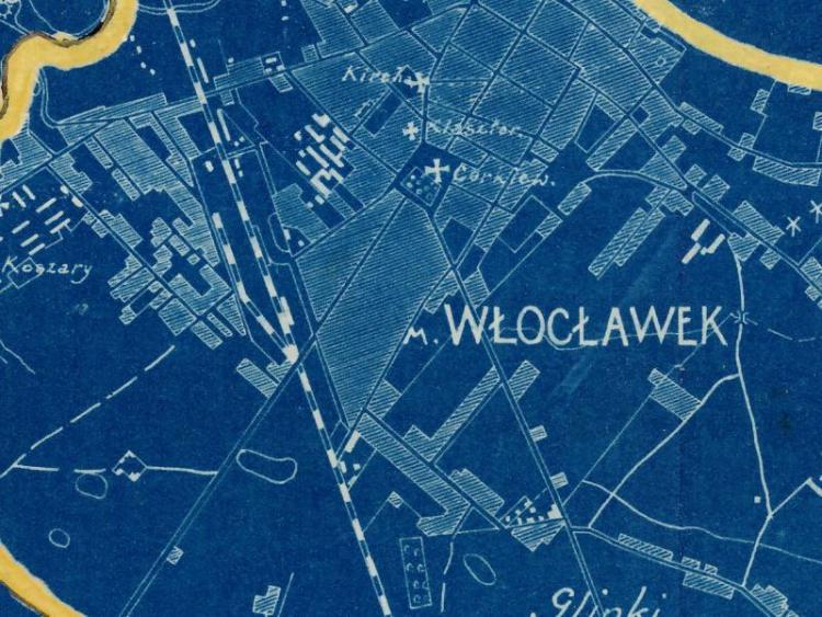 Plan Sztabowy Włocławka z 1926r.
