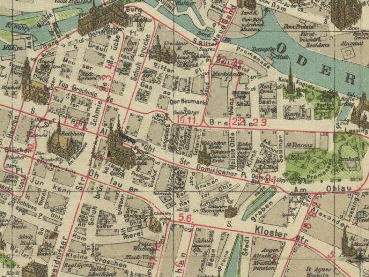 Plan Miasta Wrocławia z 1908r.