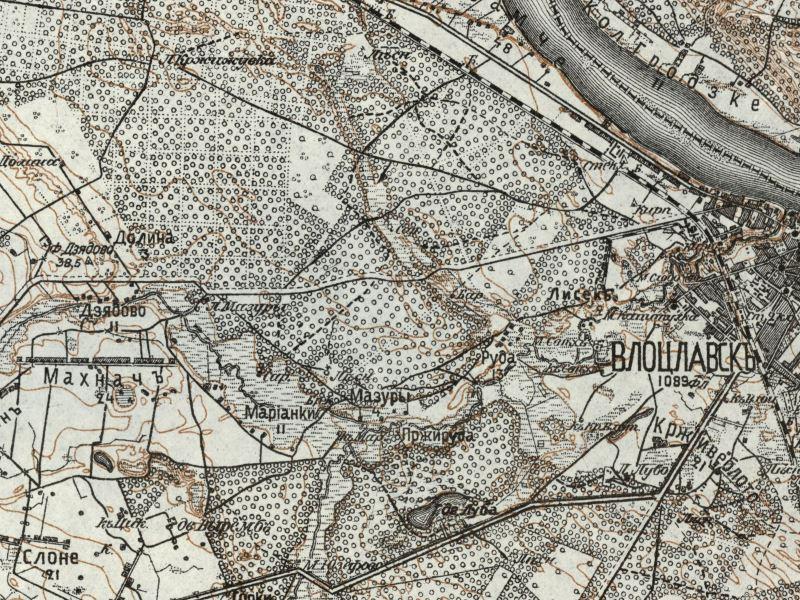 Mapa Włocławka z 1913r.