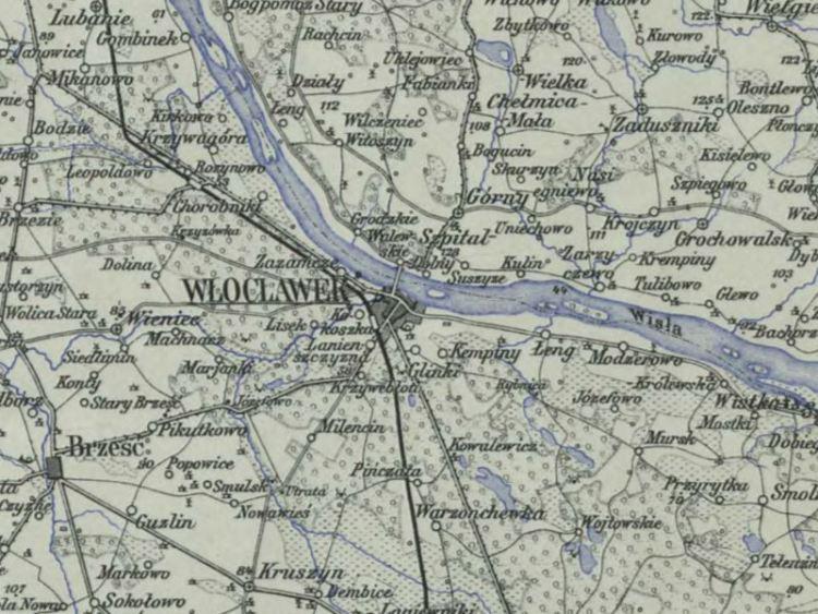 Mapa Włocławka z 1903r.