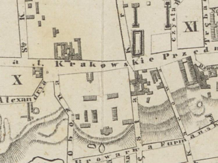Plan Miasta Warszawy z 1852r.