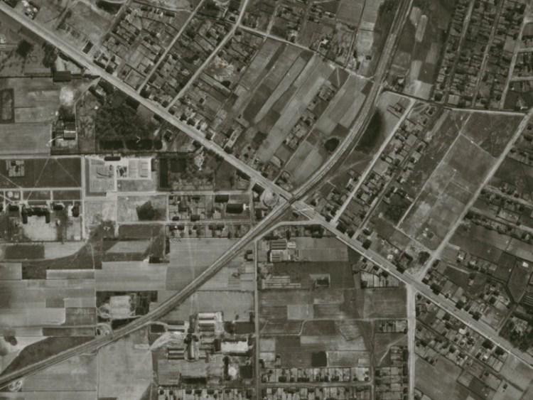 Zdjęcie lotnicze Łodzi z 1942r.