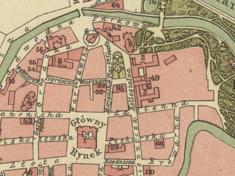 Plan Miasta Kalisza z 1910r.