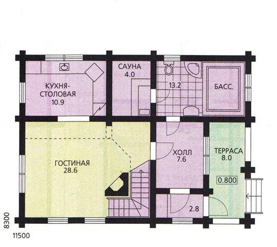 تخطيط منزل من طابق واحد من 120 متر مربع