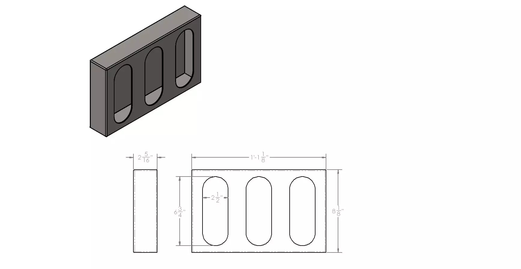 Triple Oval Light Box