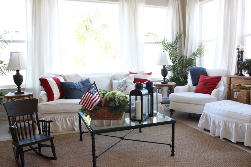 Red White And Blue Decor- Cottage Updates