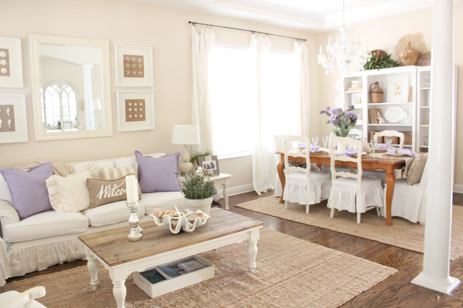 Lavender In The Living Room