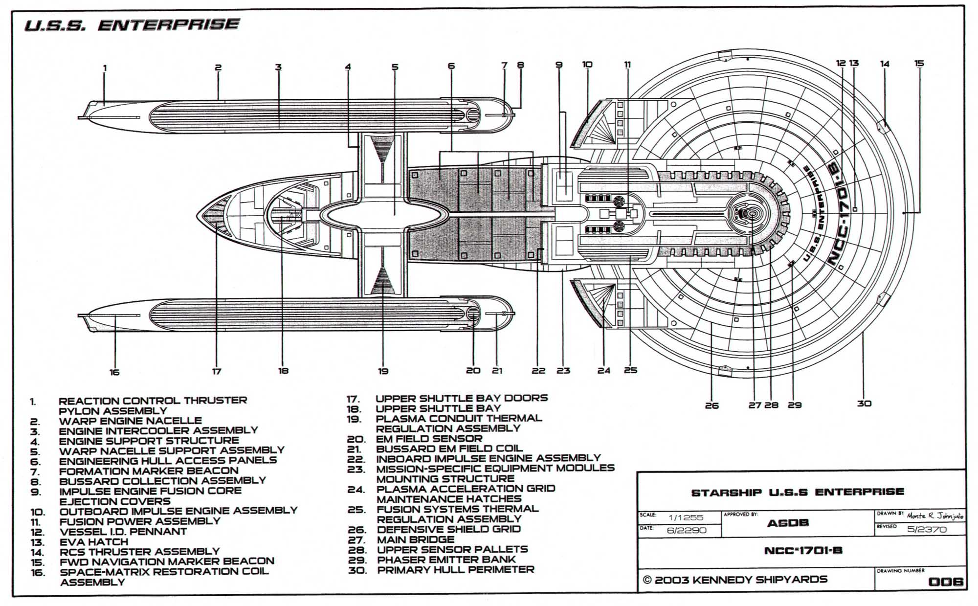 Plans Schematiques United Federation Of Planets