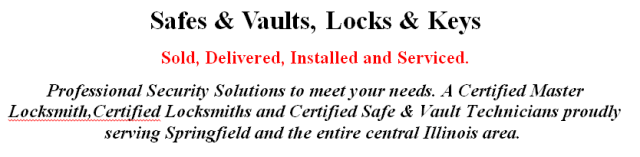 Safes, Vaults, Locks and Keys