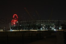 view of the Olympic stadium on exiting the canal