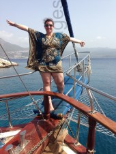 my own version of Titanic...on my own and facing the wrong way but hey ho I'm loving it :)