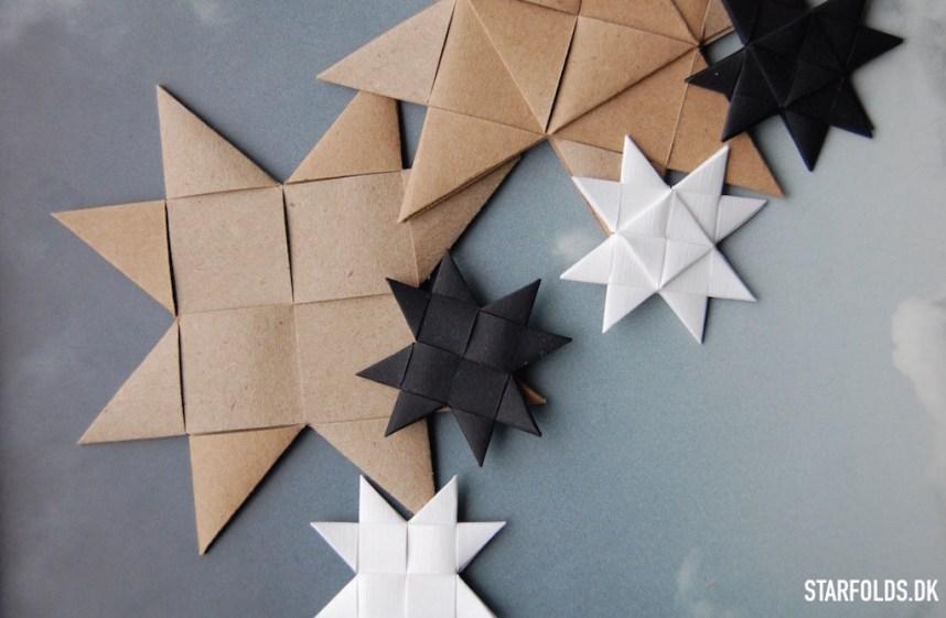 flat flettede froebel stjerner ud af flettestrimler model 1 og 2