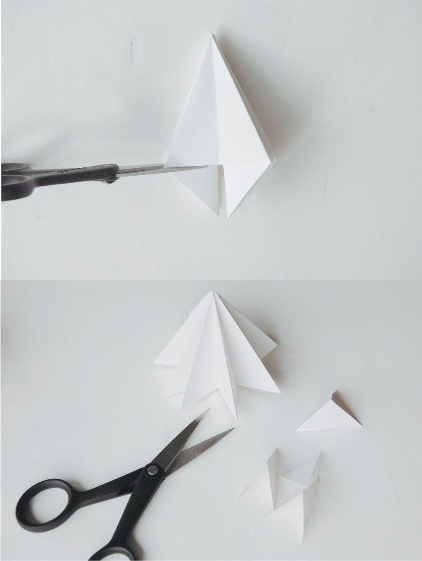DIY Papirdiamant klip folderne af