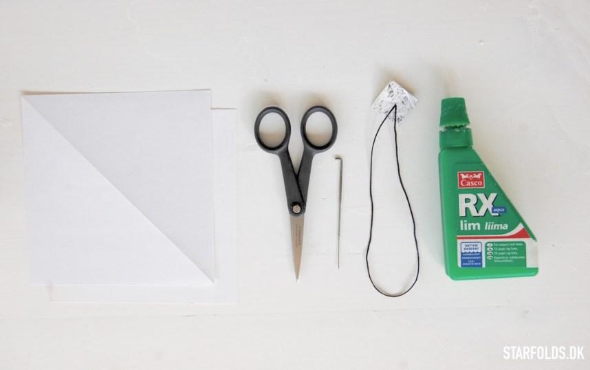 Materialer du skal bruge til at folde papir diamant