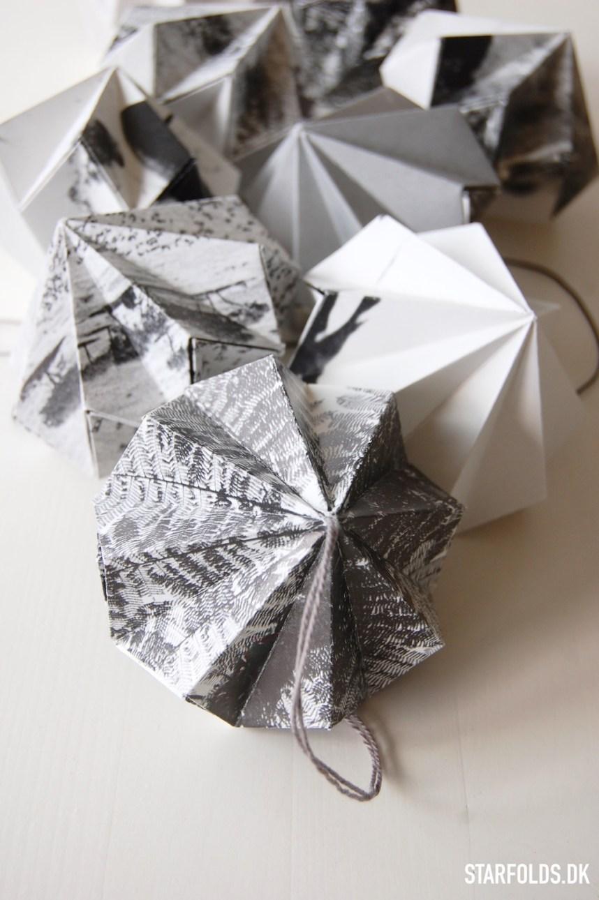 Fold en papirdiamant udaf papir fra gamle bøger