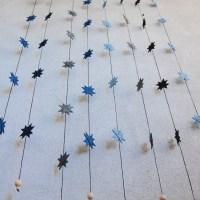 Stjerneranke af flade julestjerner