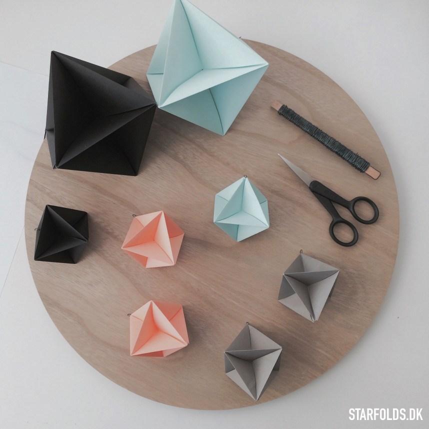 6 foraarsideer til kreative stunder med papir: fold geometriske ophæng til din bolig