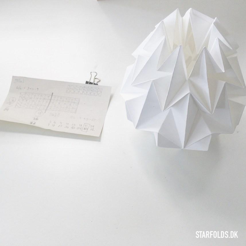DIY Lampe papir færdigfoldet