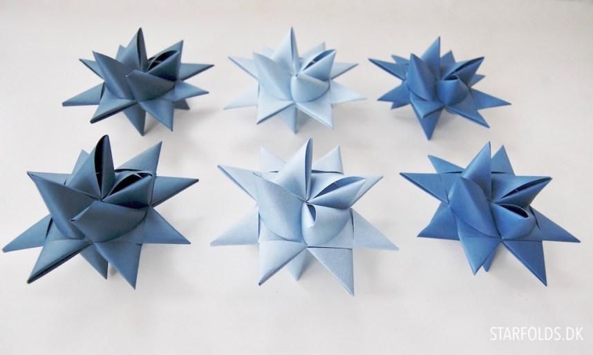 DIY materiale kit til julestjerner i blå