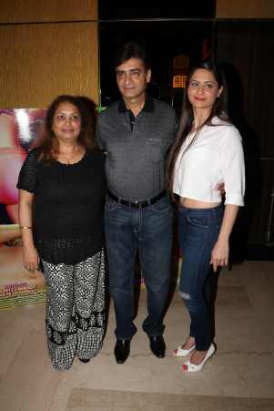 Indra Kumar-With Wife & Shweta Kumar