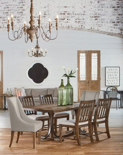 Magnolia Home Iron Trestle Dining Table