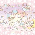 受保護的內容: Little Twin Stars Wallpaper 2015 十二月桌布 日本官方四十周年系列