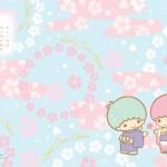 受保護的內容: Little Twin Stars Wallpaper 2014 一月桌布 台灣官方新年版