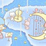 受保護的內容: Little Twin Stars Wallpaper 2017 六月桌布 日本官方Twitter票選雨中音樂會版