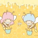 Little Twin Stars Wallpaper 2019 三月桌布 日本官方Twitter蜜蜂版
